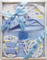 Montaly 5 Piece I Love Mommy Print Baby Gift Set (Blue)