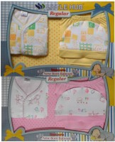 Little Hub New Born Baby Clothes Gift Set Pack (Yellow, Pink)