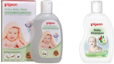 Pigeon Baby Wash And Shampoo (White)