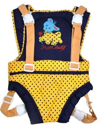 Hawai Blue Dots Baby Carrier (Yellow, Blue)