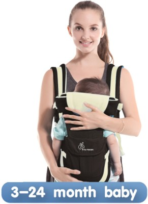 R for Rabbit Cuddle Snuggle Baby Carrier (Black Cream)