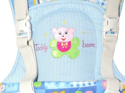 Ole Baby Durable Embroidery Kangaroo Two Way Baby Carrier (Multicolor)