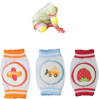 EIO Infant Toddler Baby Knee/Mee/Elbow Pads Crawling Safety Protector(PACK OF 3) MULTI Baby Knee Pads (printed)