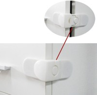 Littlegrin Baby Safety Right Angle Latch For Fridge With Adhesive Tape (Multi Color)