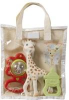 Vulli Sophie La Giraffe Cotton Gift Bag Rattle (Multicolor)