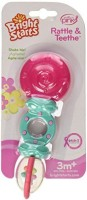 Bright Starts Rattle And Teethe, Pretty In Pink Rattle (Multicolor)