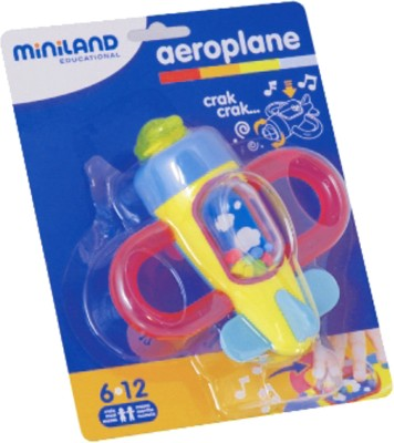 Miniland Educational Aeroplane Rattle