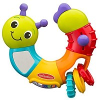 Infantino Topsy Turvy Twist And Play Caterpillar Rattle (Multicolor)