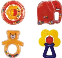 Toynest 6 Pcs Small Rattle (Red, Yellow)