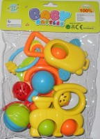 ToyTree 5 Pcs Set Of Baby Rattle (Multicolor)