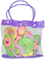 New Pinch Baby Pouch Of 7 Pcs Rattle (Multicolor)