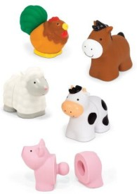 Melissa & Doug Pop Blocs Farm Animals Rattle