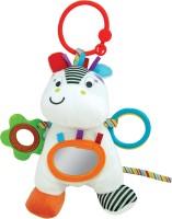 Winfun Little Pals Zippy Zebra Hnd Ratle Squkrs Crinkle Sound Rattle (Multicolor)