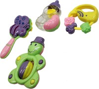 Darling Toys Multicolour Plastic Rattle - Set Of 4 Rattle (Multicolor)