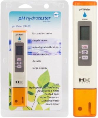 HM Baby Thermometer HM PH Meter PH 80: HydroTester LCD Display with Auto Calibration & Temperature Display Bath Thermometer