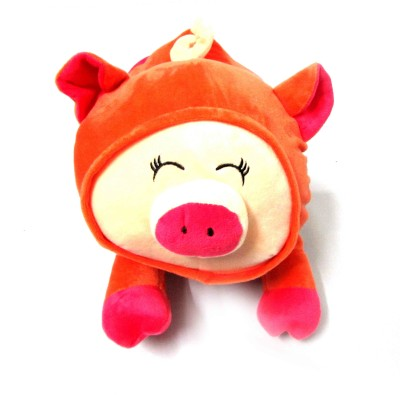 Buddyboo Cute Piggy Shape Hand and Body Heat Warmer, 220v Electric Heating Water Bag, Orange Bath Thermometer (Orange)