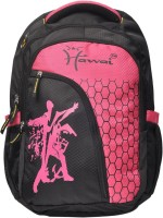 Hawai Durable & Spacious 15.4 L Medium Laptop Backpack Black, Pink, Size - 406
