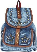 20Dresses Denim Daze Stud 2.5 L Backpack Blue, Gold