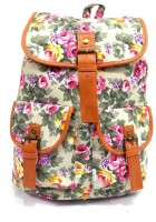 Belladona Marvelous BackPack 10 L Backpack MultiColour Floral Print In White