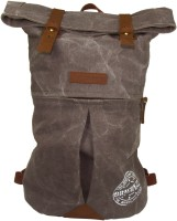 The House Of Tara Distress Finish Canvas 20 L Backpack Stone Grey