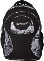 Justcraft Five Star Black And Printed Black 30 L Backpack (Black And Printed Black)