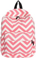 Aeoss Preppy Style Women Double-Shoulder Sweet Stripe Canvas School Collage Sports Travel Bag 20 L Backpack Pink
