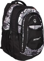 Justcraft Classic Black And Printed Black 35 L Backpack (Black)