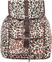 Pick Pocket Animal Print Back Pack 9 L Medium Backpack Brown, Size - 30