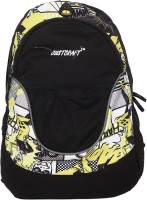 Justcraft Jigar Black And Yellow Printed 25 L Backpack Yellow