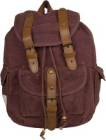 The House Of Tara Leather Accented Canvas 16 L Medium Backpack Brown, Size - 350