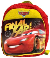 Disney Cars Plush Bag 1 L Backpack (Red & Yellow, Size - 280)