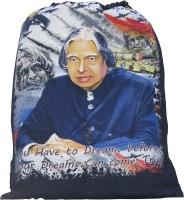 Nl Bags Jeans Rope String Bag 5 L Backpack Black, Navy Blue