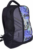 Zwart 114101GPG 25 L Free Size Backpack - Black And Grey