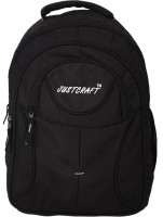 Justcraft Five Star Black And Black 30 L Backpack (Black And Black)