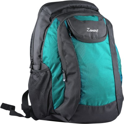 Zwart Cosmo 25 L Free Size Backpack(Black & Green)- 54% OFF