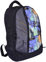 Zwart 114101GPY 25 L Free Size Backpack - Black And Grey
