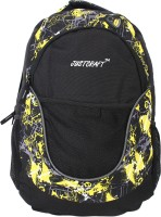 Justcraft Jigar Black And Printed Yellow 25 L Backpack (Black And Yellow)
