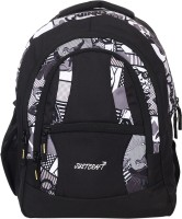 Justcraft Airport Black And Printed Black 30 L Backpack Black