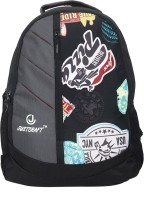 Justcraft Glaxy Black And Printed Black 25 L Backpack Black