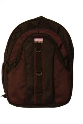 Kingston  American Kingston AKNEW05 2.5 L Medium Trolley Laptop Backpack (Maroon)