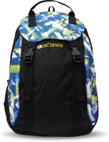 De' Bags Flipper Green 10 L Small Backpack Black And Green Graphic Print, Size - 450