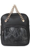 Kleio Designer Backpack And Sling Bag ( Black ) 1 L Backpack Black