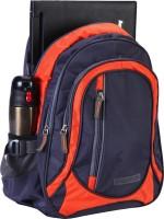 Suntop STP325 25 L Medium Laptop Backpack Grey, Orange Checks, Size - 430