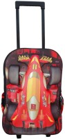 Bagathon India Kids 3D Racing Car Backpack With Trolley Wheels Feature 25 L Trolley Backpack (Red)