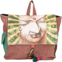 The House Of Tara Canvas Buddha Bag 10 L Medium Backpack Multicolor, Size - 300