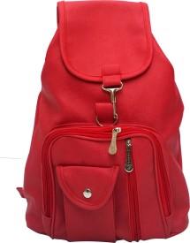 Vintage Stylish Ladies Expandable Backpack Handbag Red(bag 124) 2.5 L Backpack