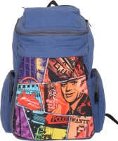 Kanvas Katha Knapsack Canvas Digitally Printed 20 L Backpack (Navy Blue)