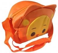 NeedyBee Cute Sun Face Kids Waterproof Sling Bag (Orange, Yellow, 5 L)