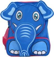 Priority Cute Elephant Waterproof School Bag (Blue, Pink, 13 Inch)