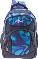 Gleam Mesh Padded School Waterproof School Bag (Blue, 17 Inch)